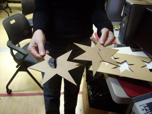 The Fab Lab is so advanced that Diama's star actually caught on fire, just like a real star.
