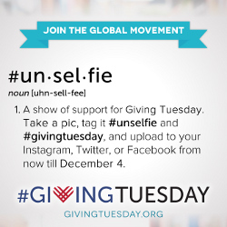 unselfie giving tuesday
